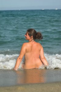 Nude on beach self-confidence confidence